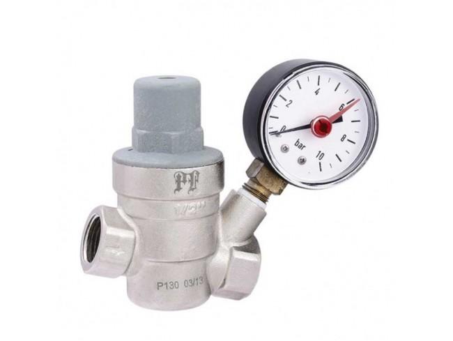 Редукционный клапан (регулятор давления) * применяется для понижения и стабилизации давления на участке