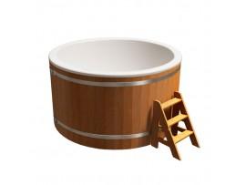 """Купель круглая """"Классик"""" для бани (сосна) 1,95x1,1м"""