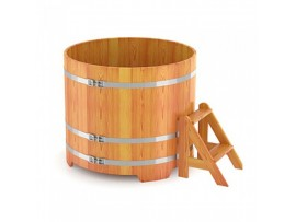 Купель круглая для бани (лиственница натуральная) 1,17x1,0м