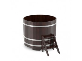 Купель круглая для бани (дуб мореный) 1,17x1,0м