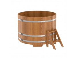 Купель круглая для бани (дуб натуральный ) 1,15x1,0м