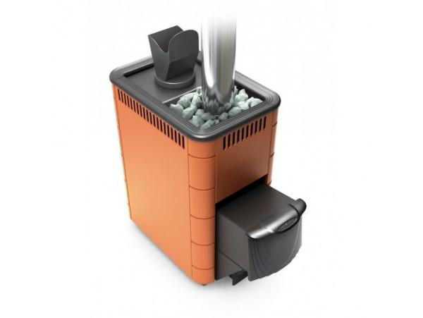 Банная печь Термофор Гейзер 2014 Carbon ДА ЗК терракота