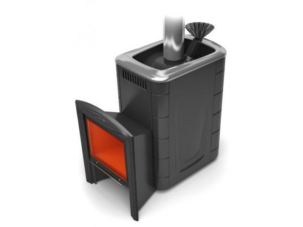 Банная печь Термофор Гейзер 2014 Carbon Витра ЗК антрацит