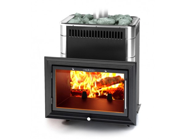 Банная печь Термофор Витрувия Carbon БСЭ антрацит НВ