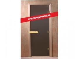 Дверь для бани Doorwood 1700*700 Тёплая ночь, бронза матовая (осина)