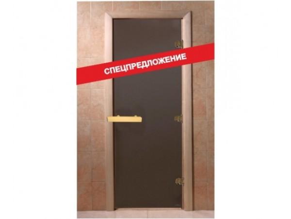 Дверь для бани Doorwood 1990*690 Тёплая ночь, бронза матовая (осина)