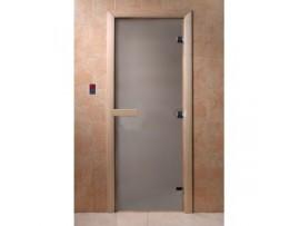 Дверь для бани Doorwood 1890*690 Тёплое утро, сатин матовая (осина)