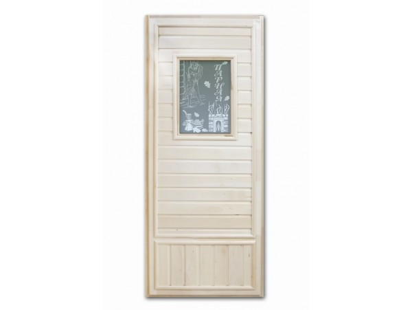 Дверь деревянная Doorwood 1850*750 липа с одним прямоугольным стеклом