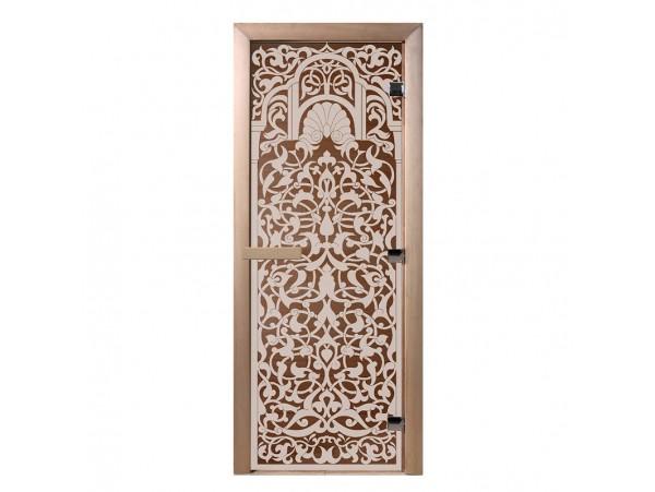 """Стеклянная дверь для бани Doorwood серия """"Флоренция"""" (бронза, 700*1900 мм)"""