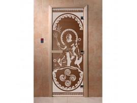 Дверь для бани Doorwood Бронза с рисунком, коробка ольха, липа, береза Все размеры