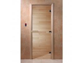 Дверь для бани Doorwood 1900*700 Прозрачная, коробка ольха, липа, береза