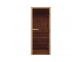 Дверь для бани Везувий 700*1700 бронза 8мм (осина)