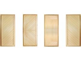 Дверь деревянная Эконом 1700*700 липа, 3 петли (коробка-хвоя) сорт С