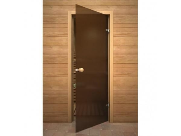 Дверь для бани Акма 1900*700 бронза матовая, осина 8мм