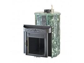 """Банная печь Ферингер Мини """"до 16 м³"""" Экран, с закрытой каменкой (Змеевик - наборная ламель)"""