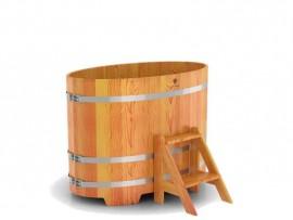 Купель овальная для бани (лиственница) 0,59х1,06x1,0м