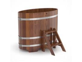 Купель овальная для бани (лиственница моренная) 0,59х1,06x1,0м
